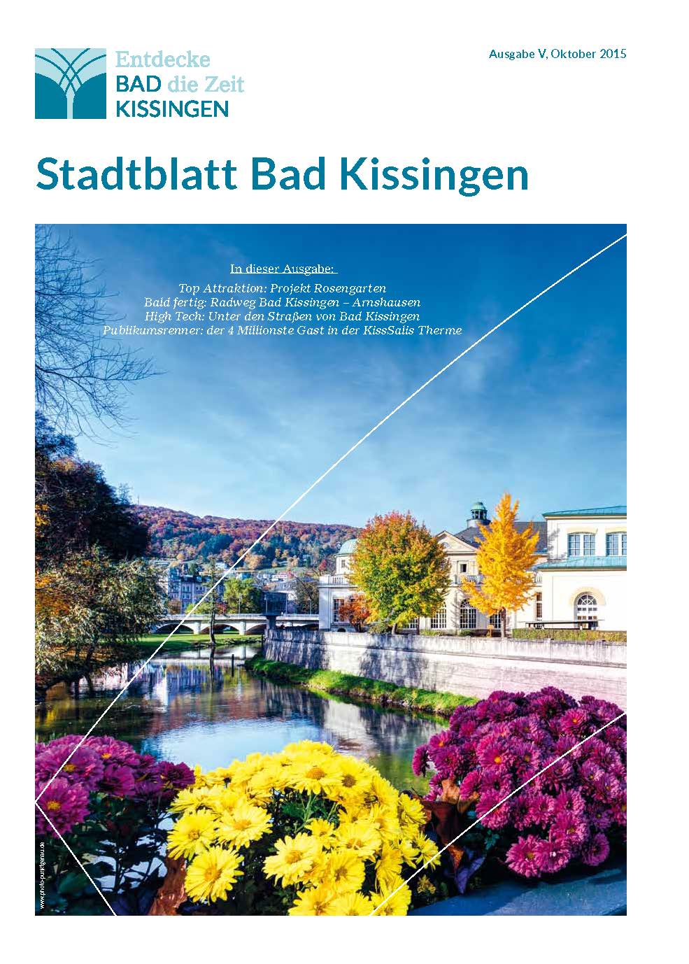 Deckblatt Stadtblatt Bad Kissingen Okt 2015